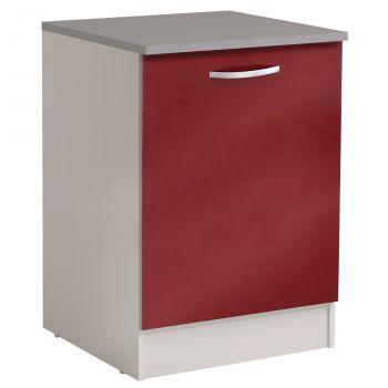 Basiseinheit Löffel 60 cm mit Tür - glänzend rot