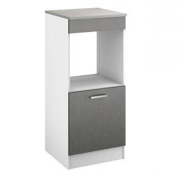 Küchenschrank für Ofen Eli mit Tür - Beton