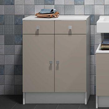 Badezimmerschrank Variety Junior - weiß/taupe