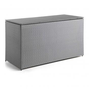 Milano cushion box flat wicker dark grey