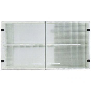 Bingo Oberschrank 100 cm Glastüren - weiß