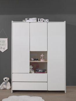 Kleiderschrank Kiddy 3 Türen - weiß