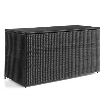 Firenze cushion box round cord wicker black