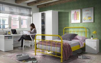 Bett New York (120 x 200 cm) - gelb