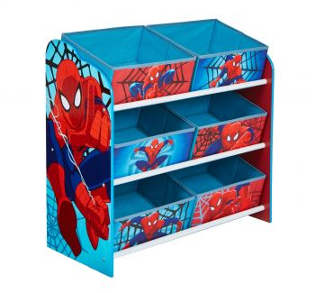 Regal mit 6 Boxen - Spiderman