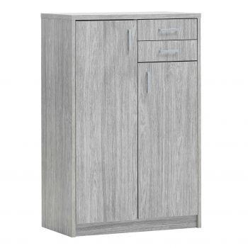 Kommode Spacio 2 Türen & 2 Schubladen H 110cm - Eiche grau