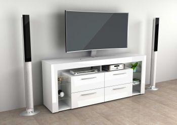 VIBIO 3 - TV/Hifi Lowboard bestehend aus 2 Colli - high_gloss/Hgl weiß