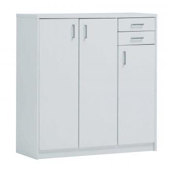 Kommode Spacio 3 Türen & 2 Schubladen H 110cm - weiß