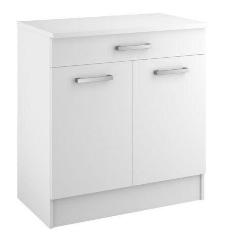 Unterschrank Uno 80x47 cm mit Schublade und 2 Türen
