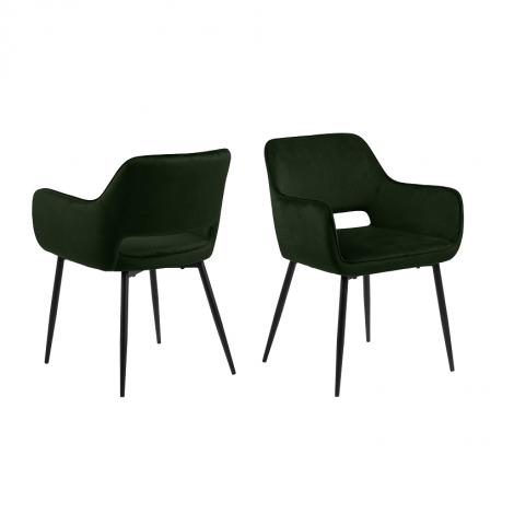 Satz von 2 Stühlen Dani - olivgrün