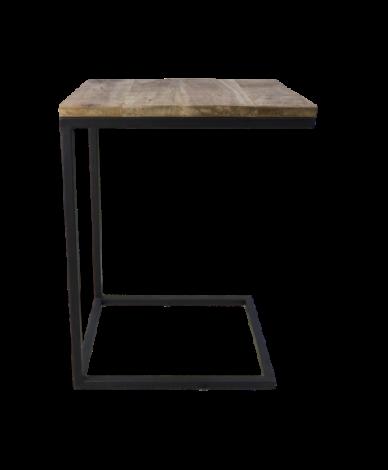 Beistelltisch Rick 65cm robustes Mango-Holz/Eisen