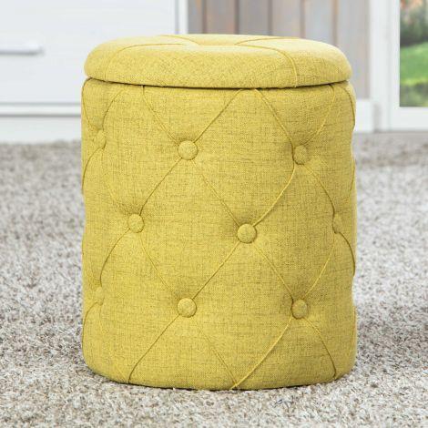 Fußhocker Yapak - gelb-grün