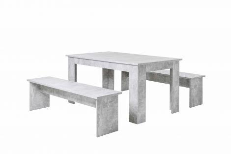 Tischset München 140cm - Beton