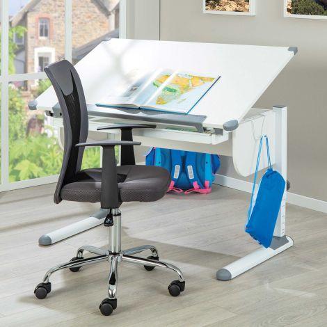 Schreibtisch Studare 110cm verstellbar - weiß