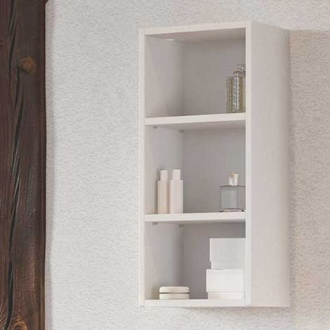 Wandregal Dasa 30cm mit 2 Fachböden - weiß