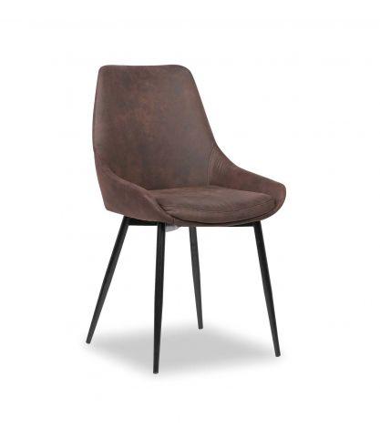 Set mit 2 Stühlen Mirano - braun