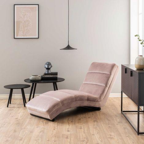 Chaise longue Slick - rosa