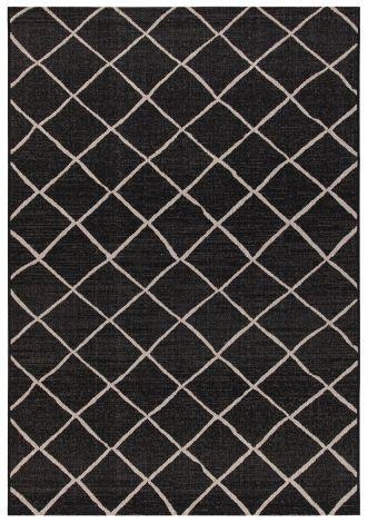 Teppich Veranda 230x160 Indoor/Outdoor - Schwarz/Weiß