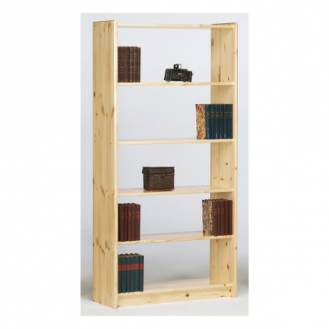 Bookcase AXEL 145/19 - Bookcase with 4 shelves - NATURAL LACQUER