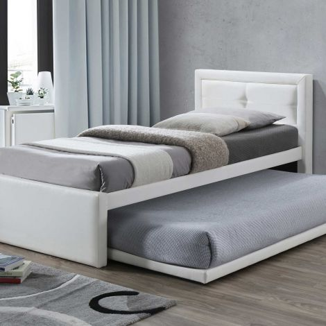 Einzelbett Rodan mit zusätzlicher Basis - weiß
