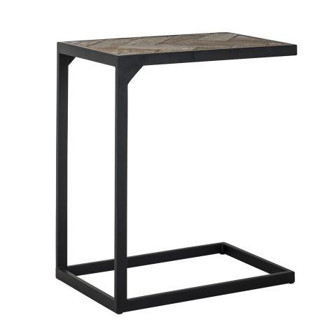 Laptop-Tisch Herringbone 55x35cm - Eiche/schwarz