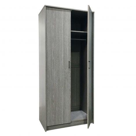 Kleiderschrank Ray 2 Türen - Eiche grau