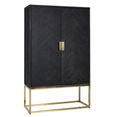 Hängeschrank Bony 108cm 2 Türen - schwarz/gold
