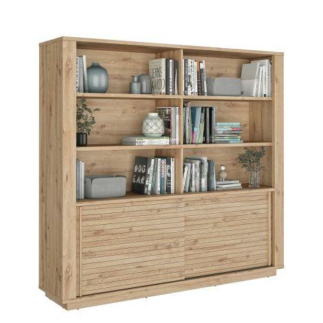 ESTRAN - Living bibliothèque Chêne artisan