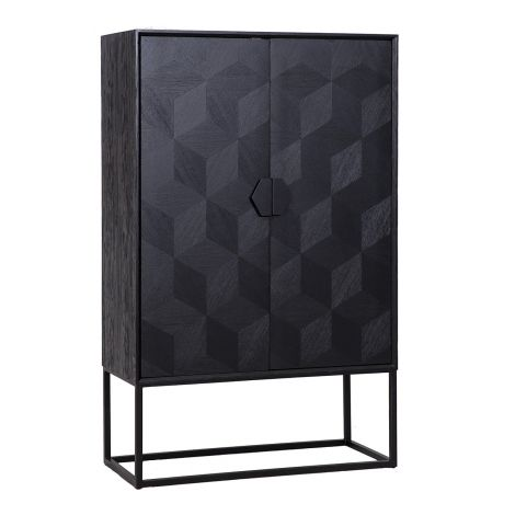 Buffetschrank Blax 110cm 2 Türen - schwarz
