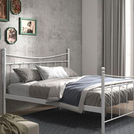 Bett Liza mit Lattenrost 160x200 - weiß