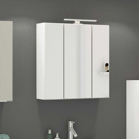 Spiegelschrank Hansen 60cm 3 Türen - weiß