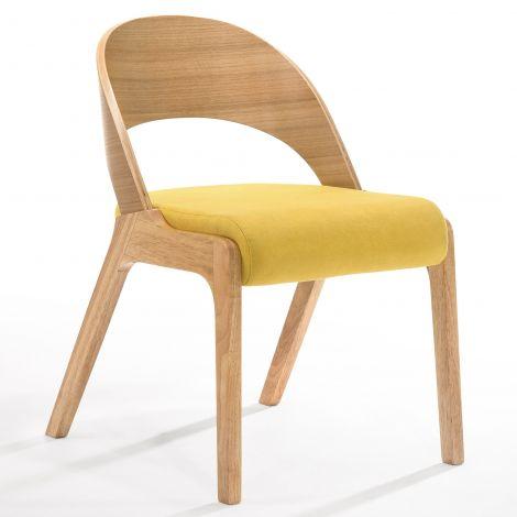 2er-Set Stühle Ulrike - Holz/gelb