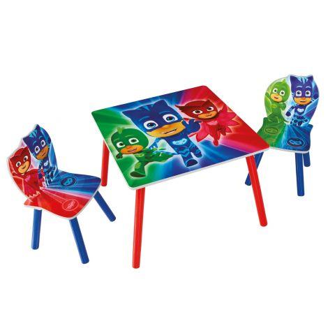 Kindertisch mit Stühlen PJ Masken
