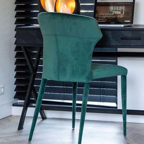 Stuhl Pim velours - grün