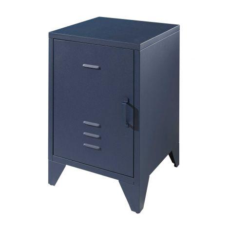 Nachttisch Bronxx Metall 40x60 - matt blau denim