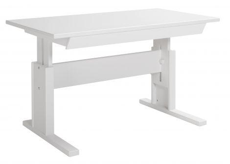 Schreibtisch mit Schublade 120 cm - weiß lackiert