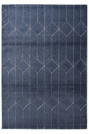 Teppich Handcarved B Navy 230x160 - navy blue