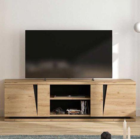 Fernsehschrank Split 2 Türen 181cm - Eiche Artisan