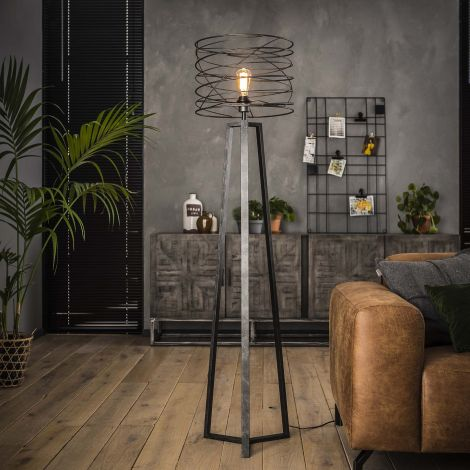 Stehlampe Ø40 curl - Charcoal