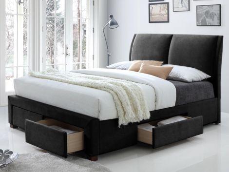Bett Babano 160x200 - schwarz
