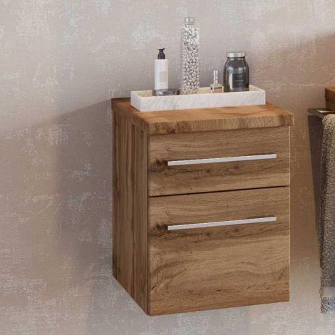 Badezimmerschrank Dasa 30cm mit 2 Schubladen - wotan Eiche