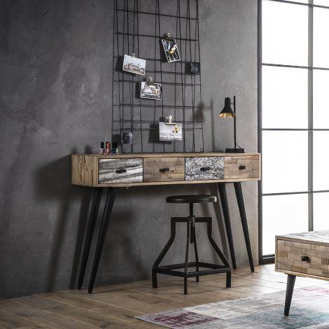 Teca 120cm Industrie-Anrichte/Schreibtisch - Teakholz