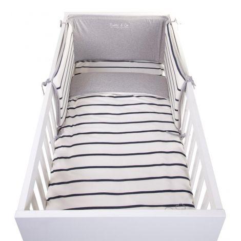 Bettbezug Jersey 100x140 - navy