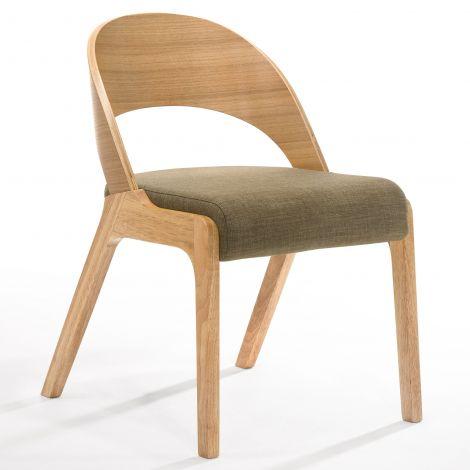 2er-Set Stühle Ulrike - Holz/Braun