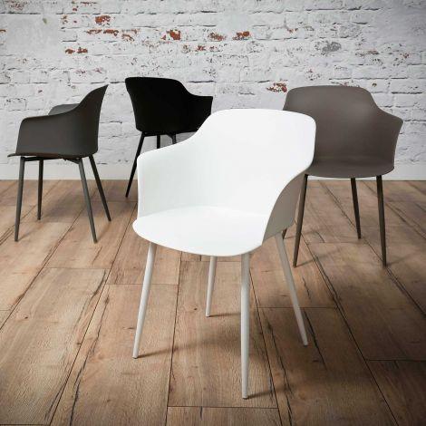 Schalensitz Kunststoff - Set von 4 - Weiss