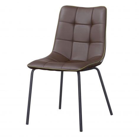 Stuhl mit 4 Stühlen Lucie - braun