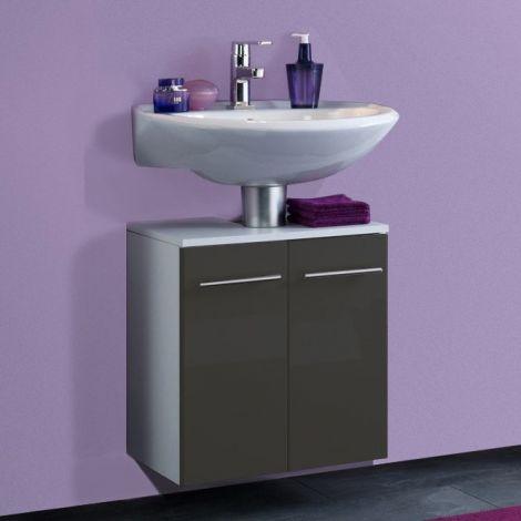 Waschtischunterschrank Small 50cm - hochglanz-grau