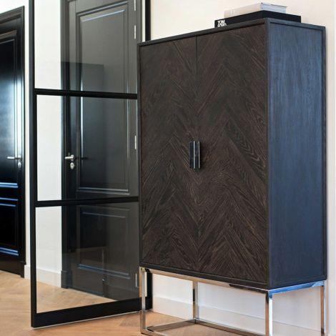 Hängeschrank Bony 108cm 2 Türen - schwarz/silber