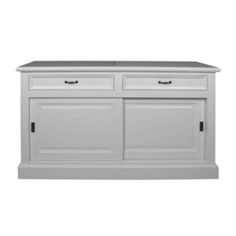Sideboard Provence 150cm mit 2 Türen und 2 Schubladen - weiß