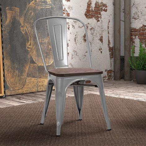 Satz von 4 Stühlen Victoria - grau